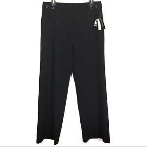 Larry Levine Black Stretch Wide Leg Trouser